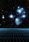 Constellations Posters - Pleiades In Taurus Poster by Science Source