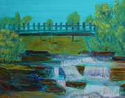 Pete Paintings - plein air - Petes Dam by Monika Dickson