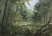 Forest Watercolor Art - Plein Air 3 by Sean Seal