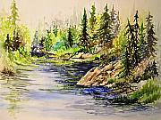 Watercolors By Jo - Plein Air at Nutimik Lake in Manitoba by Joanne Smoley