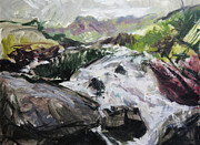 Naturalistic Framed Prints - Plein air in Snowdonia Framed Print by Harry Robertson