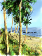 Heisler Park Framed Prints - Plein Air Painter Framed Print by Russell Pierce
