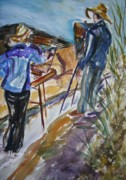 Quin Sweetman Paintings - Plein Air Painters - Original Watercolor by Quin Sweetman