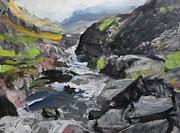 Harry Robertson - Plein air sketch at Ogwen Snowdonia