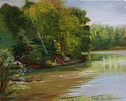 Willow Lake Posters - Plein Air Willow Creek Poster by Jill Holt