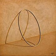 Gold Ring Prints - Plenty of Emptiness Print by Horacio Cardozo