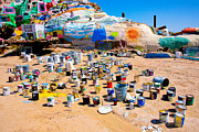Salvation Mountain Posters - Plethora of paint Poster by Christy Borgman