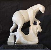 Limited Edition Sculptures - Plight of the polar bear by Amanda Hughes-Lubeck