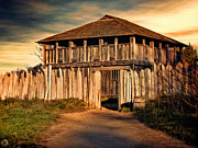 House Digital Art - Plimouth Plantation  meeting house by Lourry Legarde