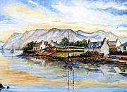 Scenic Drawings Framed Prints - Plockton Scotland Framed Print by Andrew Read
