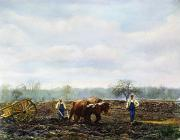 1899 Framed Prints - Ploughing, 1899 Framed Print by Granger
