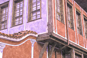 Blue Brick Prints - Plovdiv Old Town Print by Hristo Hristov