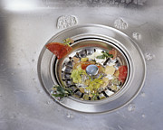 Collecting Debris Prints - Plughole Food Trap Print by Carlos Dominguez