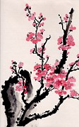 Plum Blossoms Paintings - Plum Blossoms IV by Yolanda Koh