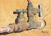 Brass Paintings - Plumbing by Ken Powers