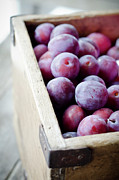 Crate Prints - Plums Print by Marju Randmer