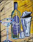 Sake Paintings - Plumtini by Mike Crump