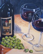 Wine Glasses Paintings - Plungerhead by Donna Tuten