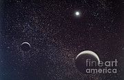Stars And Moon Prints - Pluto And Charon Print by Nasa