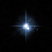 Illuminating Metal Prints - Pluto And Its Moons Charon, Hydra Metal Print by Stocktrek Images