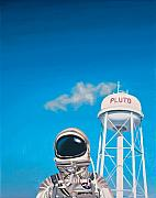 Science Fiction Glass Framed Prints - Pluto Framed Print by Scott Listfield