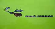 Vintage Auto Prints - Plymoouth Road Runner in Lime Green Print by Paul Ward