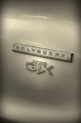 318 Framed Prints - Plymouth Belvedere GTX Fender Emblem Badge Framed Print by Gordon Dean II