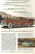 Forties Posters - Plymouth De Soto 1953 Poster by Nomad Art And  Design