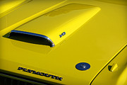 Banana Art Prints - Plymouth Duster 340 Hood Scoop Print by Gordon Dean II