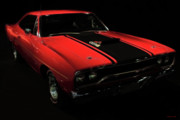 Transportation Digital Art Acrylic Prints - Plymouth Duster 440S Beep Beep Acrylic Print by Wingsdomain Art and Photography