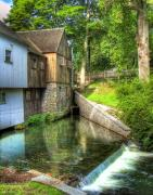 Massachusetts Plymouth Massachusetts Posters - Plymouth Grist Mill Poster by Tammy Wetzel