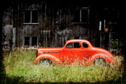 Joel Witmeyer Prints - Plymouth Hot Rod Print by Joel Witmeyer