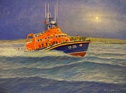 Royal Navy Paintings - Plymouth Lifeboat by William H RaVell III