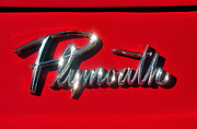Fine American Art Posters - Plymouth nameplate Poster by David Lee Thompson