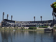 Pnc Park Prints - Pnc Park Print by Chad Thompson