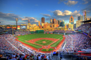 Pittsburgh Skyline. Framed Prints - PNC Park Framed Print by Shawn Everhart
