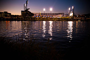 Pnc Park Prints - PNC Park Sunset Print by Kayla Yankovic