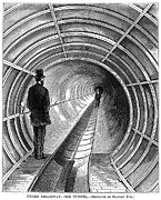 1870 Posters - Pneumatic Subway, 1870 Poster by Granger