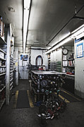 Work Bench Prints - Pneumatic Tools in a Machine Shop Print by Jetta Productions, Inc