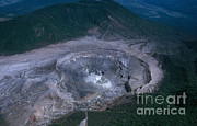 Volcano Prints - Poas Volcano, Costa Rica Print by Edward Drews