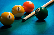 Pool Balls Posters - Pocket Billiards Poster by Frank Mari