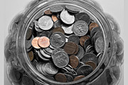 Money Digital Art Metal Prints - Pocket Change Metal Print by Susan Stone