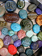 Colorful Art Ceramics - Pocket Stones by Kimberly Castor