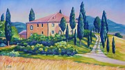 John Pastels - Podere Belvedere - Tuscany by John Clark