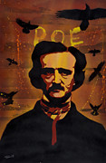 Spray Paint Painting Framed Prints - Poe Framed Print by Iosua Tai Taeoalii