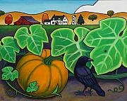 Art For Children Prints - Poes Crow Print by Stacey Neumiller