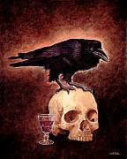 Raven Paintings - Poetry and port... by Will Bullas