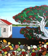 Anni Morris Art - Pohutukawa Dreams by Anni Morris