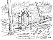 Bridge Drawings - Poinsett Bridge by Greg Joens