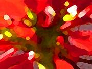 Photograph Paintings - Poinsetta by Amy Vangsgard